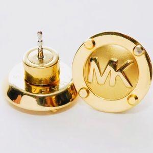 Michael Kors Heritage Gold Steel Stud Earrings